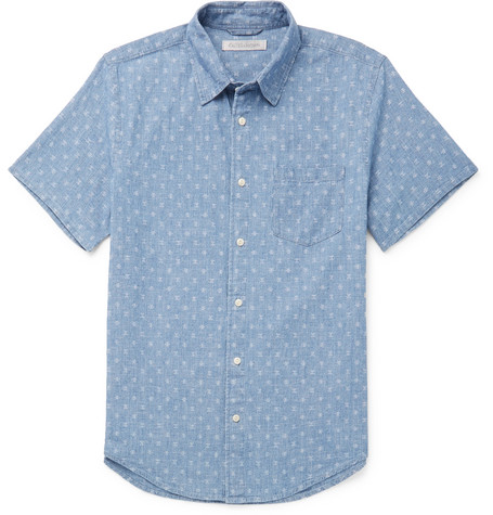 Printed Cotton Chambray Shirt by Outerknown