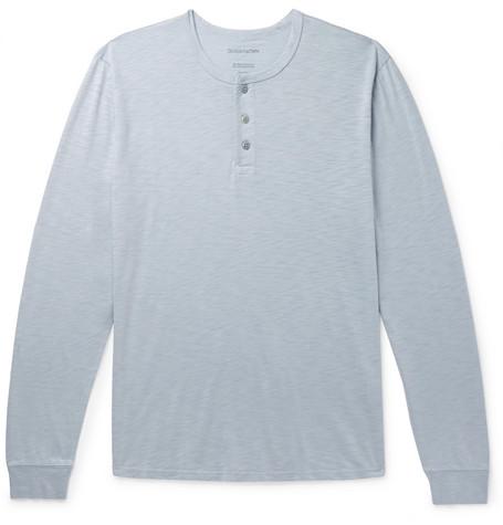 Outerknown Slub Organic Pima Cotton Jersey Henley T Shirt