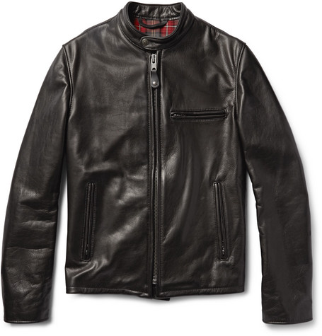 Perfecto 530 Slim Fit Leather Café Racer Jacket by Schott