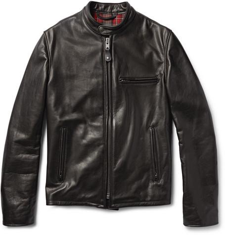 SCHOTT Perfecto 530 Slim-Fit Leather Café Racer Jacket