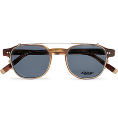 Moscot - Arthur Round-Frame Tortoiseshell Acetate Optical Glasses with Clip-On UV Lenses