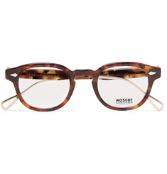 Moscot Lemtosh Round-Frame Tortoiseshell Acetate and Gold-Tone Titanium Optical Glasses
