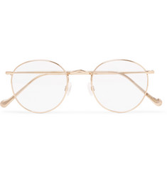 Moscot Zev Round-Frame Gold-Tone Optical Glasses
