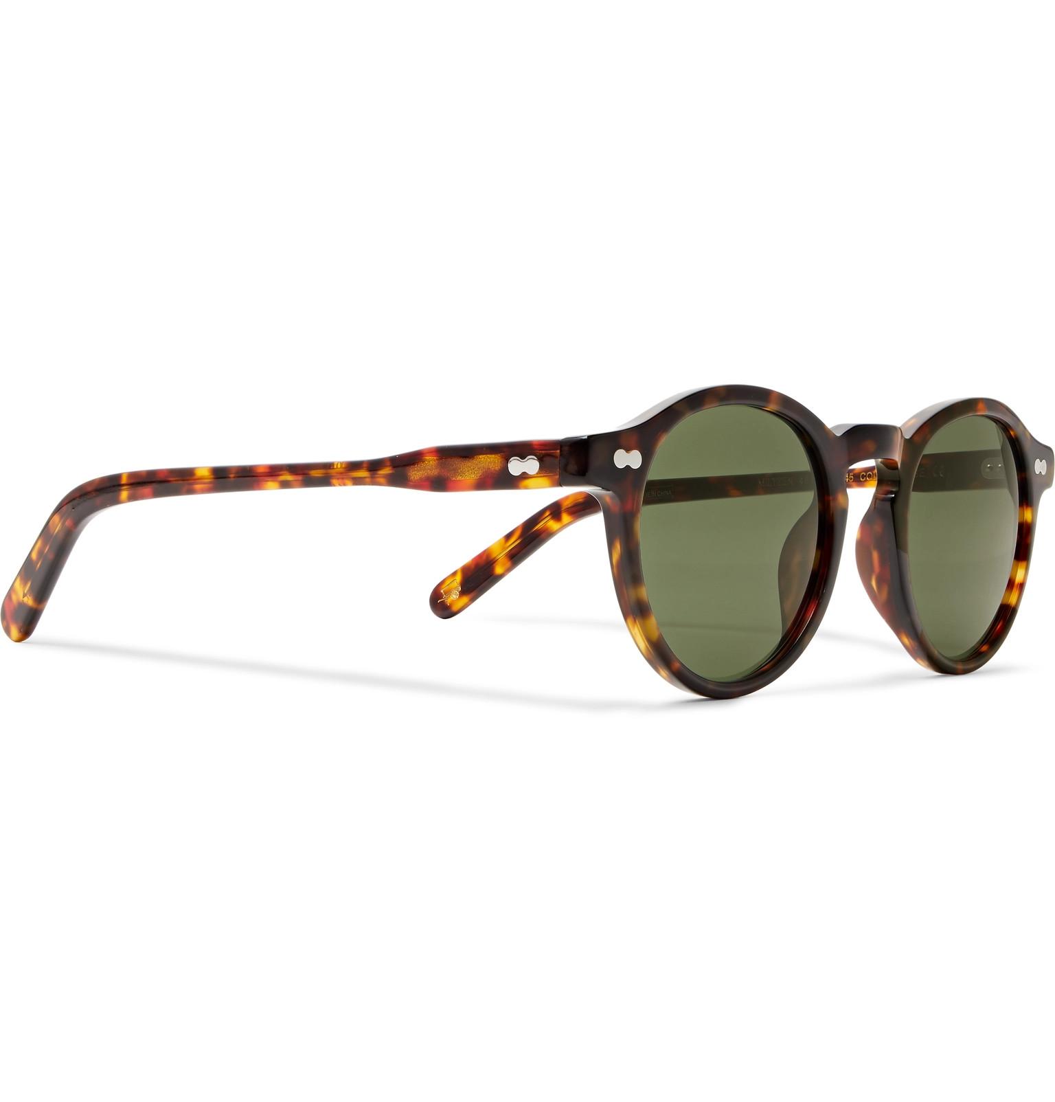 819f536239d9c Moscot - Miltzen Round-Frame Tortoiseshell Acetate Sunglasses