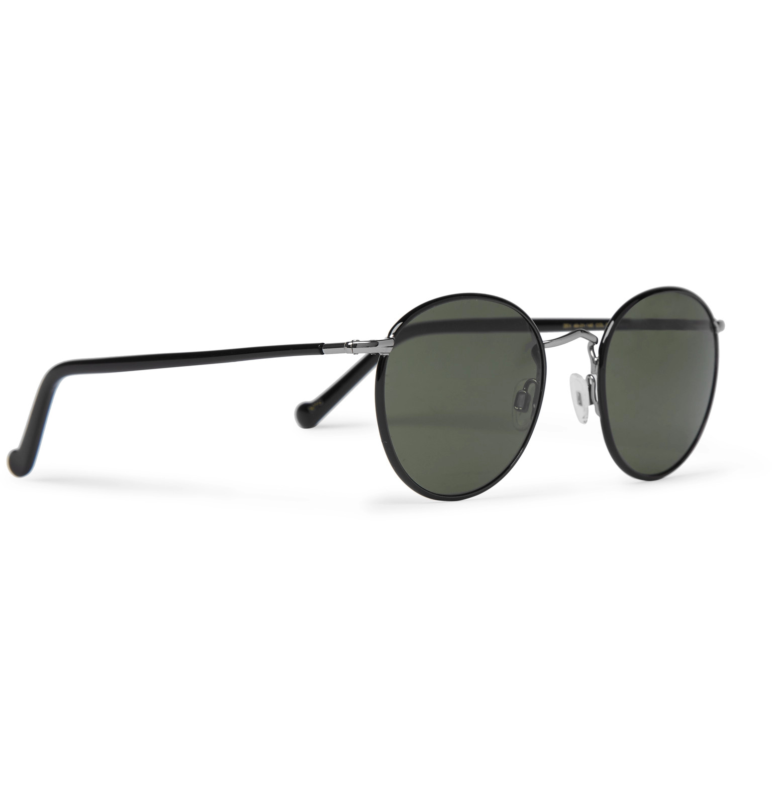 c9f447d920266 MoscotZev Round-Frame Silver-Tone and Enamel Sunglasses. €281.05   Approx.  CHF321.20. Tap to Close. 1