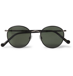 Moscot Zev Round-Frame Silver-Tone and Enamel Sunglasses