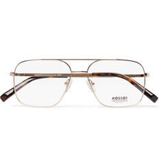 Moscot - Shtarker Aviator-Style Gold-Tone Optical Glasses