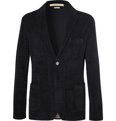 Massimo Alba Navy Cotton-Terry Blazer