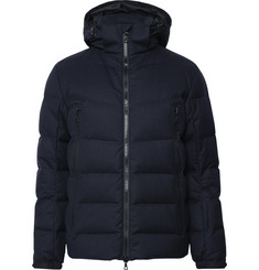 Officine Generale Quilted Wool-Blend Twill Hooded Down Ski Jacket