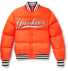 Gucci + New York Yankees Appliquéd Quilted Shell Down Jacket