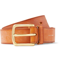James Purdey & Sons 4cm Tan Burnished-Leather Belt