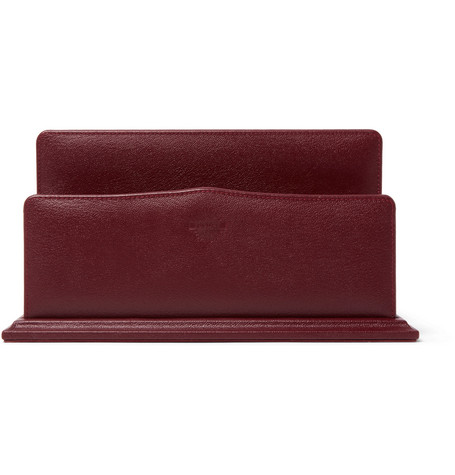 JAMES PURDEY & SONS Textured-Leather Letter Rack in Red