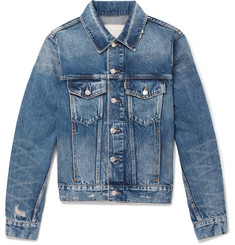Sandro Slim-Fit Distressed Denim Jacket