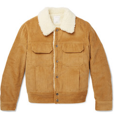 Sandro - Faux Shearling-Lined Cotton-Corduroy Jacket