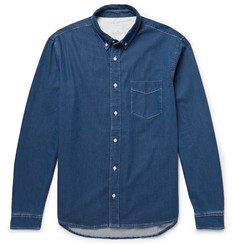 Sandro Button-Down Collar Cotton-Chambray Shirt