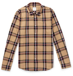 Sandro Checked Cotton-Twill Shirt