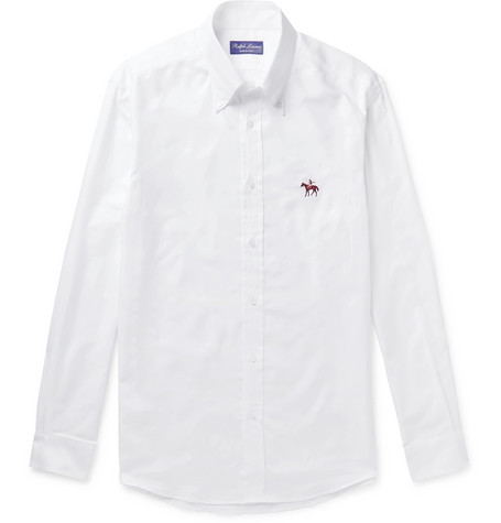 Button Down Collar Cotton Oxford Shirt by Ralph Lauren Purple Label