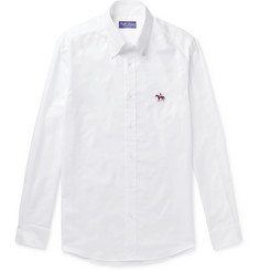Ralph Lauren Purple Label Button-Down Collar Cotton Oxford Shirt