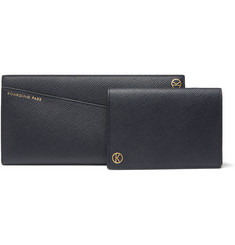 Kingsman + Smythson Panama Cross-Grain Leather Travel Wallet and Passport Holder