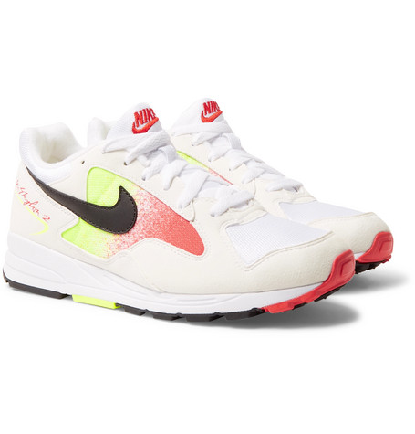 a057af60bd0617 Nike - Air Skylon II Felt and Mesh Sneakers