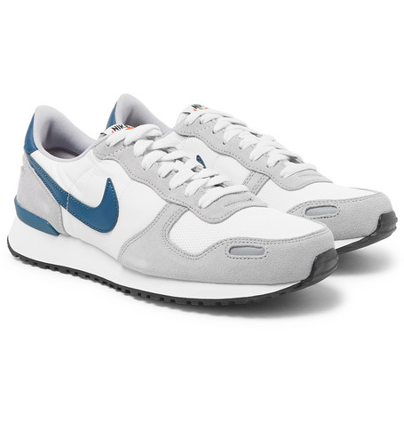 online store 62bf3 810a0 NikeAir Vortex Leather-Trimmed Suede, Nylon And Mesh Sneakers