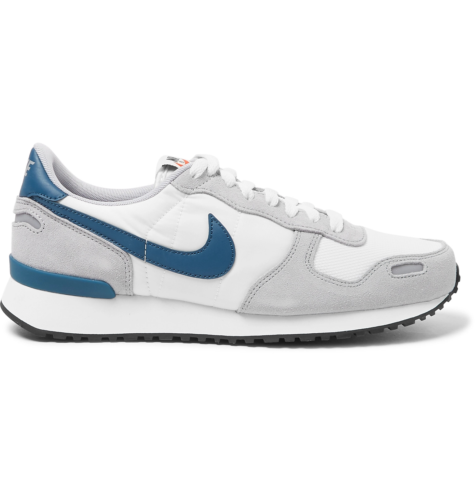san francisco 2fea1 3d0a3 Nike - Air Vortex Leather-Trimmed Suede, Nylon And Mesh Sneakers