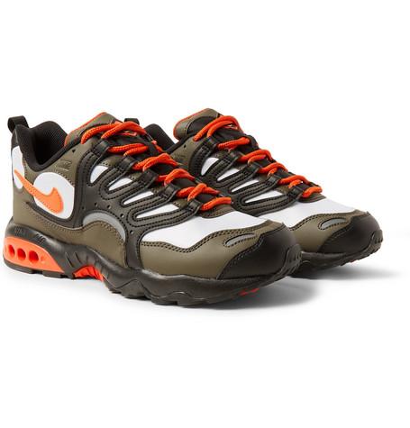 944ca4455eb5 Nike - Air Terra Humara  18 Faux Leather and Mesh Sneakers