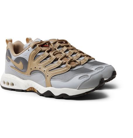 779f7cab4e5f8 Nike Air Terra Humara  18 Faux Leather And Mesh Sneakers In Gray ...
