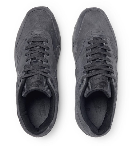 dc0b39140d Nike Men's Air Max 1 Premium Casual Sneakers From Finish Line In Anthracite/ Anthracite-