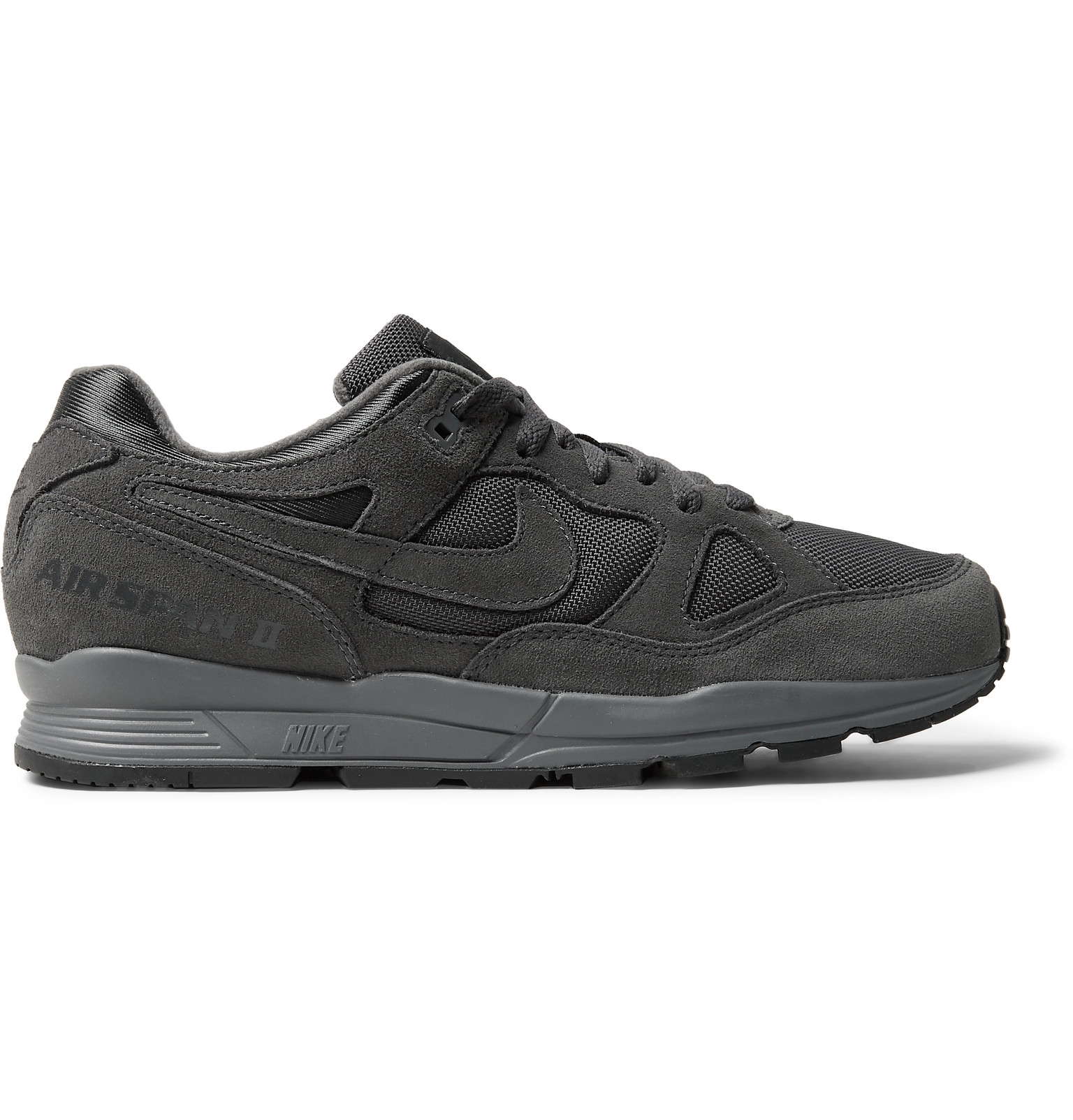 super popular 63d43 beaac Nike - Air Span II Premium Suede-Trimmed Mesh Sneakers