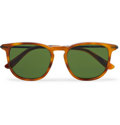 Bottega Veneta - Square-Frame Tortoiseshell Matte-Acetate and Gunmetal-Tone Sunglasses
