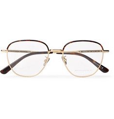 Bottega Veneta - Square-Frame Tortoiseshell Acetate and Gold-Tone Optical Glasses