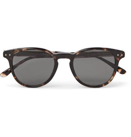 e8a363b7fe77 Bottega Veneta Round-Frame Tortoiseshell Acetate Sunglasses