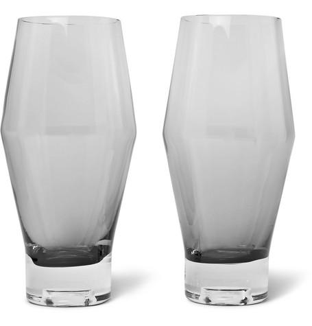 TOM DIXON TANK SET OF TWO DÉGRADÉ BEER GLASSES