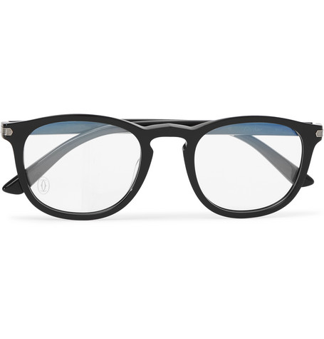 3c606623ae Cartier Eyewear - Square-frame Acetate Optical Glasses - Black ...
