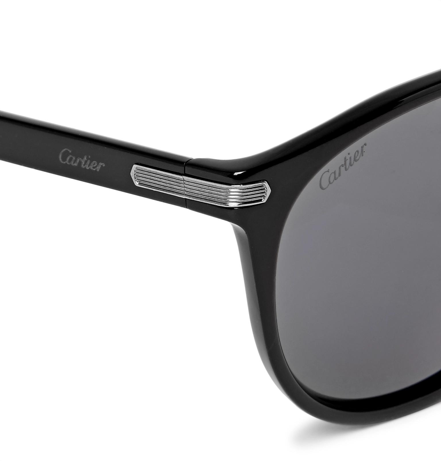 349d517170 Cartier Eyewear - Signature C de Cartier Round-Frame Acetate Sunglasses