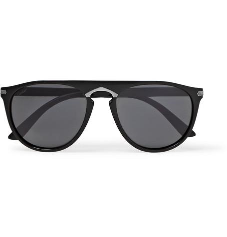 fa4beaa706 Cartier EyewearSignature C de Cartier Round-Frame Acetate Sunglasses