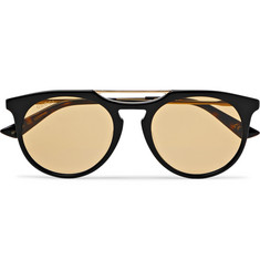 Gucci - Round-Frame Acetate and Gold-Tone Sunglasses