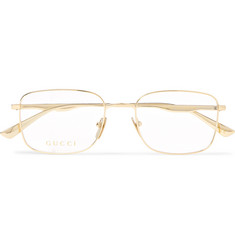 Gucci - Square-Frame Gold-Tone Optical Glasses