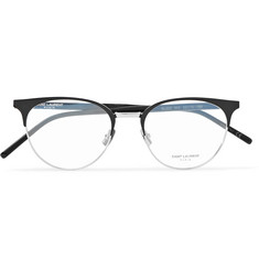 Saint Laurent Round-Frame Acetate and Silver-Tone Optical Glasses