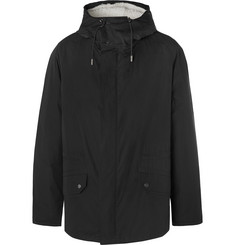 Yves Salomon - Canvas Hooded Down Parka with Detachable Shearling Lining