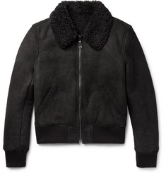 Yves Salomon Slim-Fit Shearling Bomber Jacket