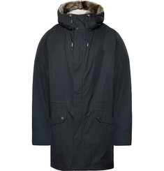 Yves Salomon Shearling-Lined Cotton-Blend Hooded Down Parka
