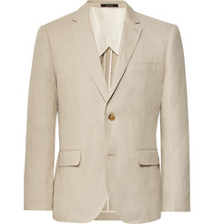 Club Monaco - Beige Slim-Fit Grant Linen Suit Jacket