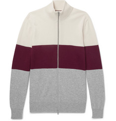 Brunello Cucinelli - Colour-Block Cashmere Zip-Up Cardigan