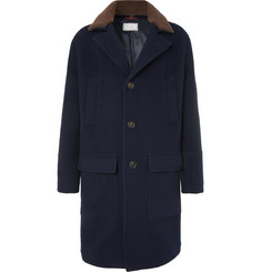 Brunello Cucinelli Shearling-Trimmed Virgin Wool and Cashmere-Blend Coat