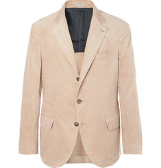 Brunello Cucinelli Beige Slim-Fit Sea Island Cotton-Corduroy Suit Jacket