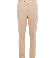 Brunello Cucinelli - Beige Sea Island Cotton-Corduroy Suit Trousers