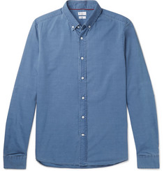 Brunello Cucinelli Button-Down Collar Cotton-Chambray Shirt