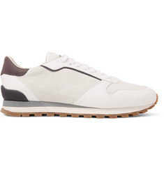 Brunello Cucinelli Crono Suede and Full-Grain Leather Sneakers